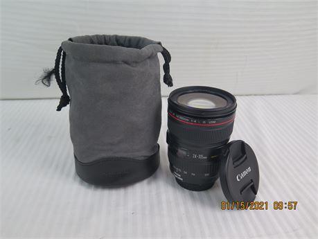 Canon EF Lens 24-105mm 1:4 L IS USM Ultrasonic Macro Zoom Lens for Canon (670)