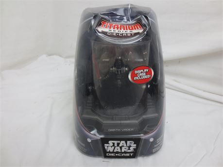 Titanium Series Diecast Star Wars Poseable with Removeable Helmet Darth Vader
