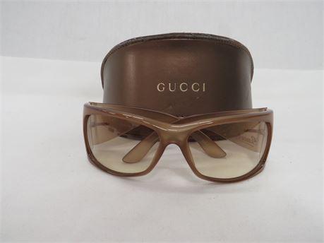 Women's Gucci GG 2962/s REP1M 63 15 115 Optyl Brown/Tan Sunglasses w/ Case