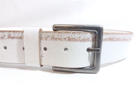 NWT Calvin Klein Jeans Genuine Leather Brown Belt Size 36