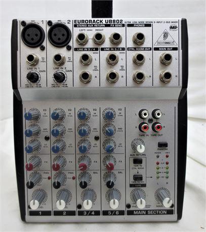 EURORACK UB802 Ultra Low Noise Design 8-Input 2-Bus Mixer - No Cables